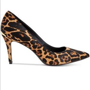 New Calvin Klein Leopard Calf Hair Heels